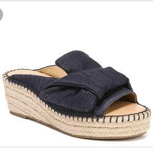 FRANCO SARTO Patrice wedge sandal denim 6.5 heel